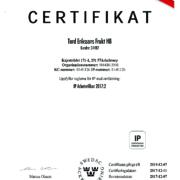 Certifikat IP Arbetsmiljö